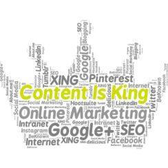 Content Is King, Social Media Marketing, Online Marketing.