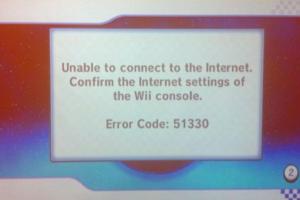Wii Error Code 51330
