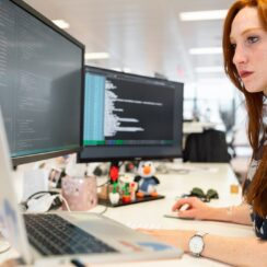 Woman Coding on Computer, Software Development, Software Engineer, Tech, Technology