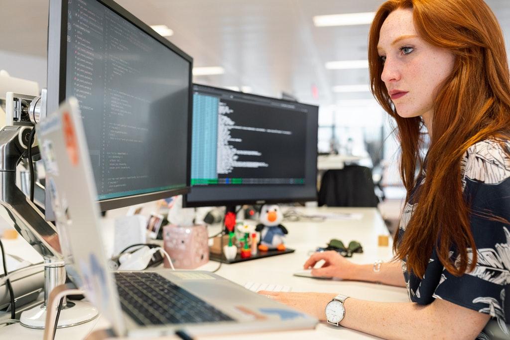 Woman Coding on Computer, Software Development, Software Engineer, Tech, Technology