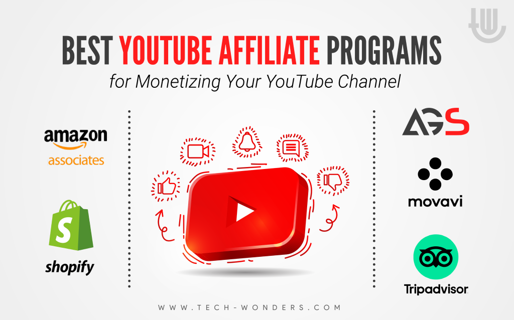 Best YouTube Affiliate Programs for Monetizing Your YouTube Channel