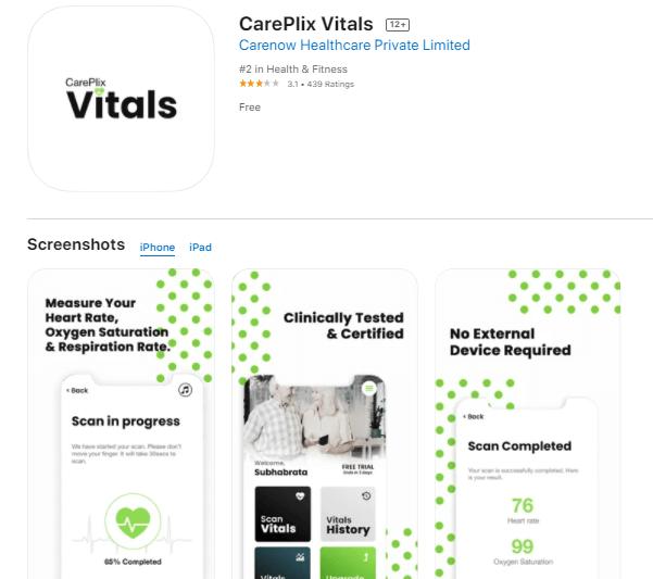 CarePlix Vitals app for iPhone and iPad