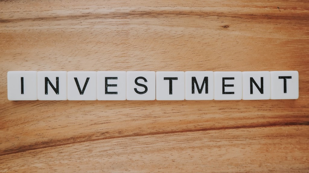 Investment Scrabble text photo