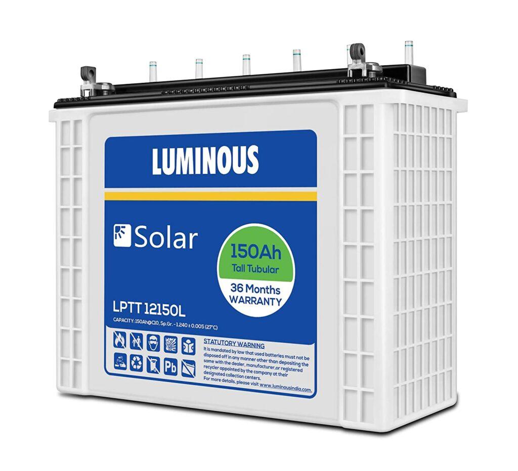 Luminous 150Ah Tall Tubular Solar Inverter Battery