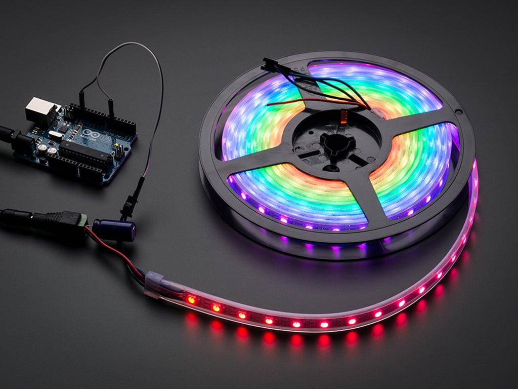 Arduino Microcontroller With Neon Lights