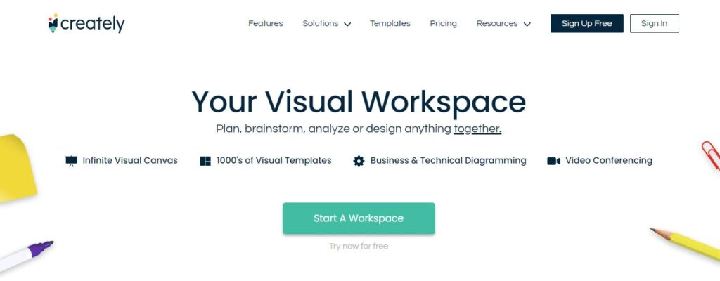 Creately: Chart, Diagram & Visual Workspace Software