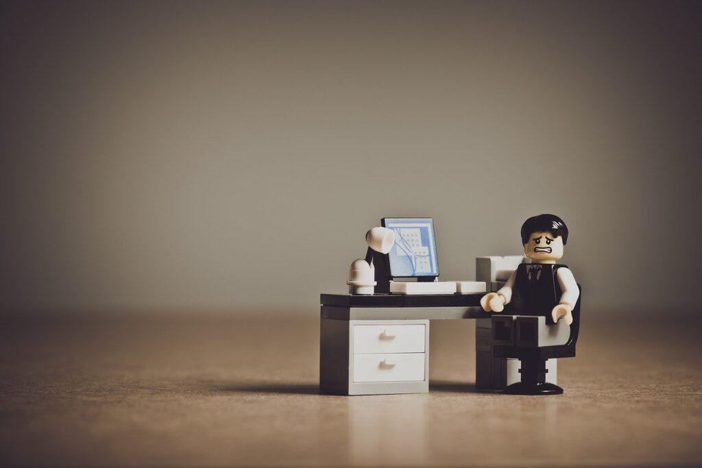Despaired Businessman, Workplace, Unhappy, Upset