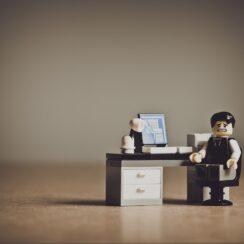 Despaired Businessman Workplace Unhappy Upset