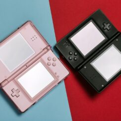 Pink and Black Nintendo DS Portable Gaming Consoles