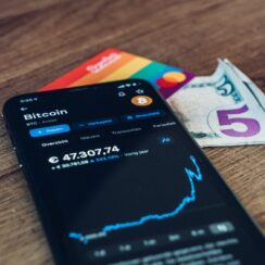 Bitcoin Cryptocurrency Trading Mobile Phone Ethereum Credit Card