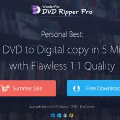 WonderFox DVD Ripper Pro can Rip a DVD to Digital copy in 5 minutes