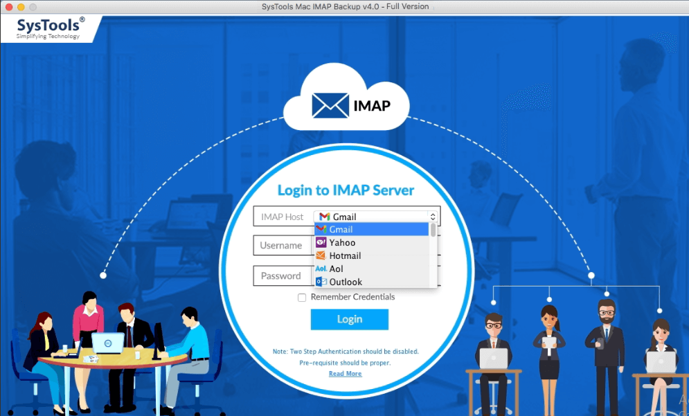 SysTools Mac IMAP Backup