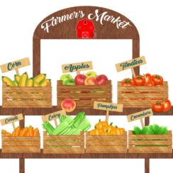 Farmer's Market, Selling Vegetables, Produce