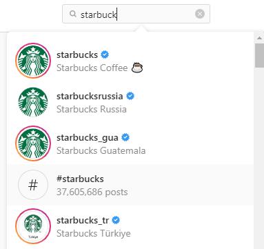 Starbucks Instagram accounts