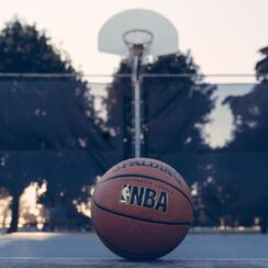 NBA Spalding ball photo