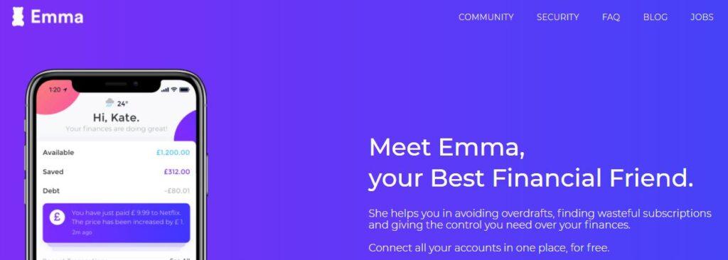 Meet Emma, your Best Financial Friend.