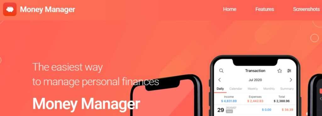 Money Manager: The easiest way to manage personal finances