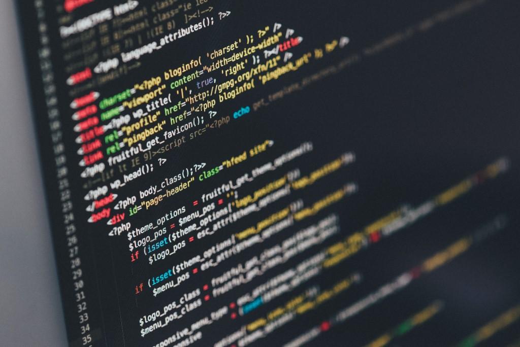 Monitor showing Java Programming Code