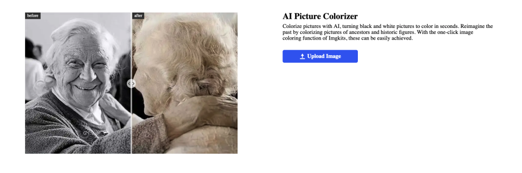 AI Picture Colorizer: Colorize pictures with AI, turning black and white pictures to color in seconds.
