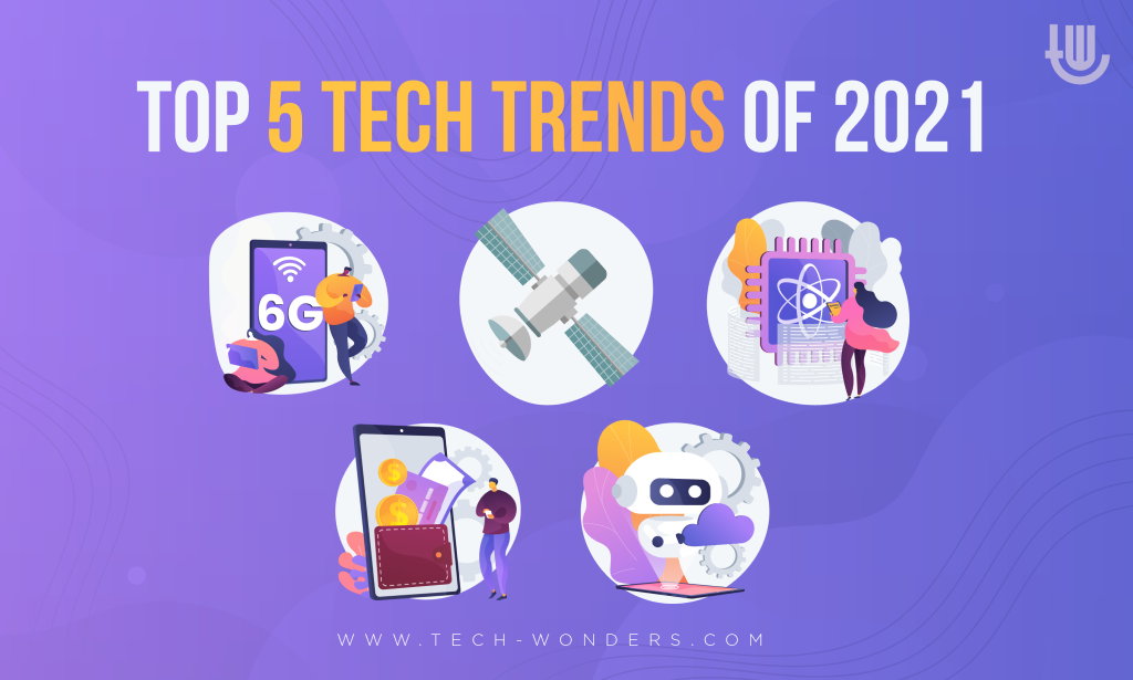 Top 5 Tech Trends of 2021: Large Satellites Constellations, 6G Deployment, Digital Money, Self-Powered AI, Quantum Computers