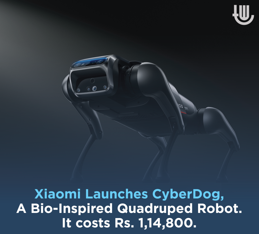 Xiaomi Launches CyberDog, A Bio-Inspired Quadruped Robot. It costs Rs. 1,14,800.